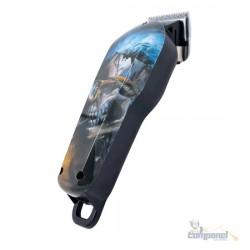 Maquina Corte Cabelo Profissional Estampada Caveira Oculos KM735